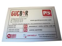 Aluminyum serigrafi etiket baskısı