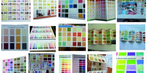 Sentetik Boya Renk Kartelası